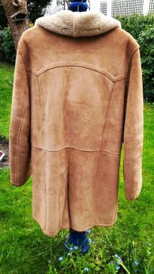 Manteau peau retournée