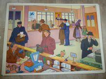 Affiche scolaire vintage