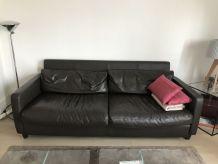 Canapé cuir 3 places Chester Habitat