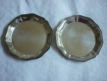 2 dessous de verre en metal argenté Christofle