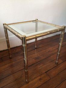 Table d'appoint vintage métal doré