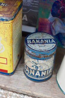 Boite fer Banania période bleue années 30