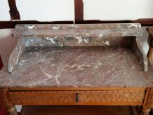 Table de toilette Art Deco, coiffeuse, bureau,