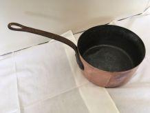 casserole cuivre étamée 18cm