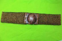 ceinture large taille perle bois vintage/retro TU