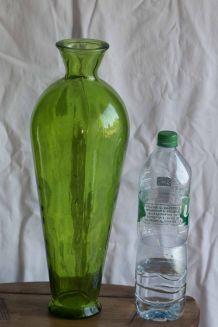 Très grande amphore de verre 45 cm / 4 litres