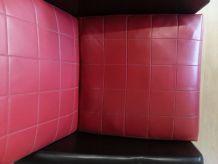 Fauteuil Rockabilly noir et rouge