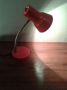 Lampe de bureau en tole émaillée orange