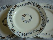 6 assiettes plate faience longchamp
