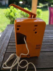 Ouvre boîte ancien orange et blanc Moulinex
