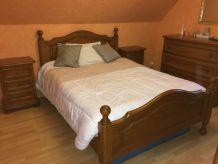 Chambre à coucher BV Louis XIV chêne massif