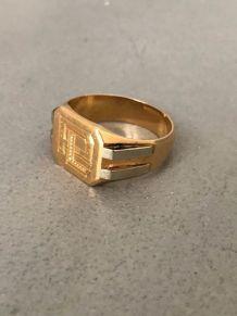 Chevalière  or massif 18 carat