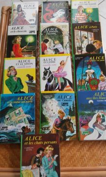 lot de 13 livres ALICE