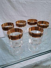 verre dorure luxe  1970