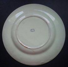 Petite assiette verte pâle ou mint ancienne GIEN