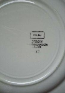 3 assiettes Digoin Sarreguemines Dilou