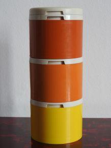 3 pots à épices empilable Tupperware