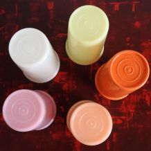 5 gobelets plastique Tupperware