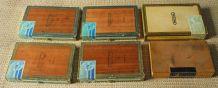 Lot de 6 boîtes à cigares (vides)