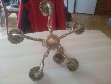 lustre 5 branches en bronze