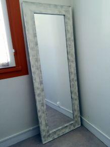 Miroir bois blanchi