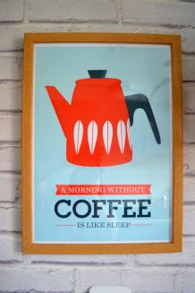 Affiche A3 inspiration scandinave - Coffee / Handz