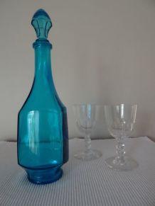 Carafe bleu turquoise Belgium