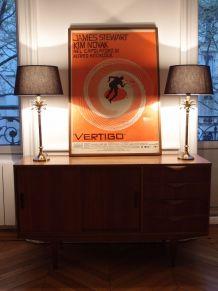 Affiche de cinéma - Vertigo - Hitchcock