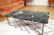 Table basse en marbre vert des Alpes des annèes 50/60