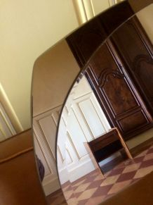 Miroir double teinte vintage italien
