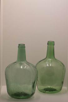 Paire de 2 dame jeanne de 4 litres soufflées