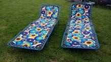 chaise longue vintage motif seventies