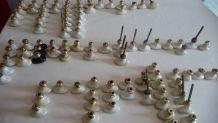 Poignées de porte vintage en porcelaine de limoges