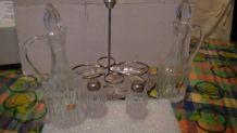 serviteur de table cristallin  Italie vintage