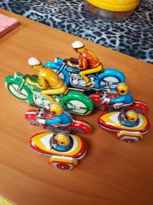 lot motos metal vintage