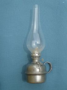 lampe  a petrole  étain