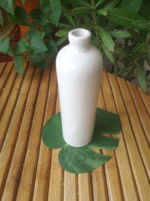 bouteille en grès vernissé blanc-Faïencerie de DIGOIN