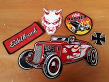 lot badge patche ecusson hot rod