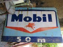 Grande plaque émaillée MOBIL pour garage, déco, industriel,