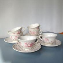 Service à café 6 tasses et soucoupes, Sarreguemines