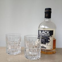 Duo de verres à whisky en cristal