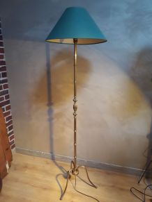 lampadaire bronze 1970 vert