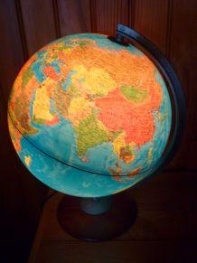Grand globe terrestre lumineux marque italienne NOVA RICO