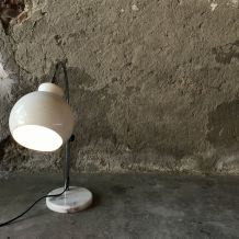 Lampe vintage arc et pied marbre