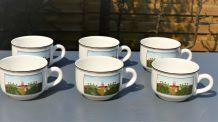 Tasses à café Design naif, Villeroy Boch, neuves