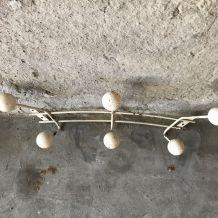 Porte-manteaux 6 boules blanc