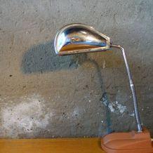 Lampe Jumo en métal chromé et marron