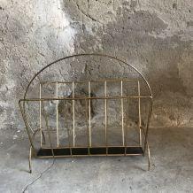 Porte revue en métal doré et ajouré 1960