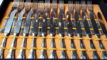 Menagere neuve en métal argenté lame inox