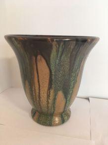Vase Grès Flammé Art Nouveau Faïencerie De Bouffioulx 9517